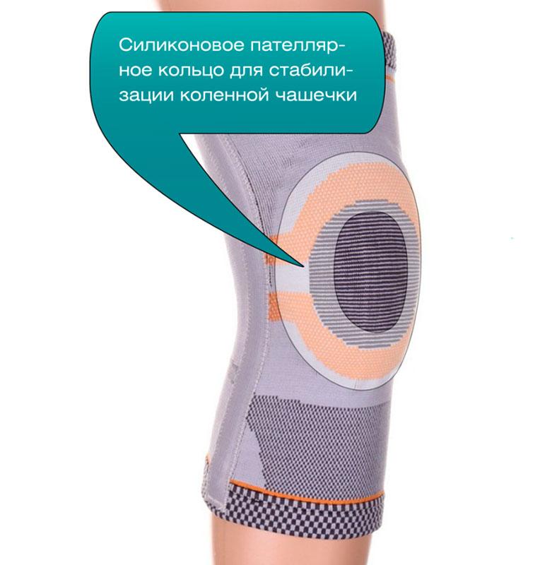 Силиконовое пателлярное кольцо для стабилизации коленной чащечки