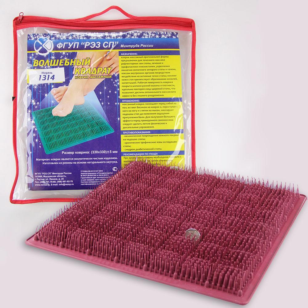 Массажный коврик 1314 Волшебный квадрат и упаковка