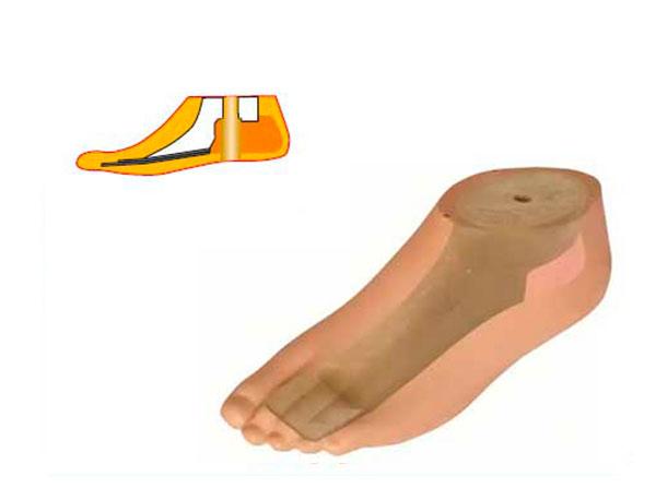 Модель 544 - мужской протез ноги типа SACH
