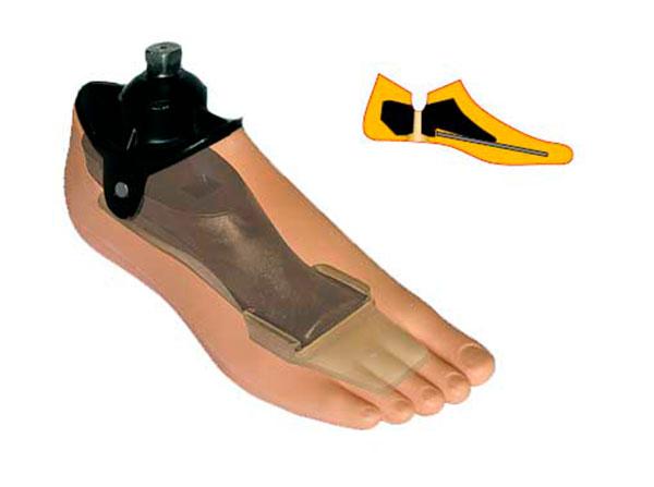 Модель 711 ПР - мужской протез стопы комлпектуется щиколоткой с пирамидкой