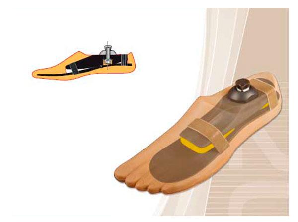Модель 833 - высокофункциональный протез стопы класса 3D